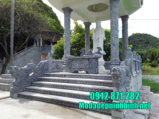 Địa chỉ thiết kế, lắp đặt cột đá uy tín tại Ninh Vân