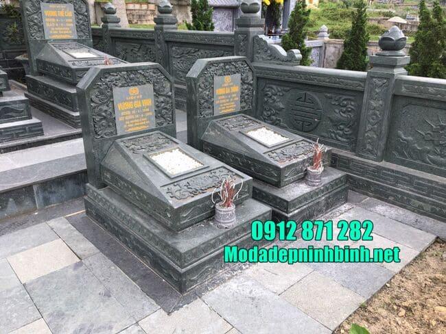 Địa chỉ thiết kế, lắp đặt mộ đá xanh rêu uy tín