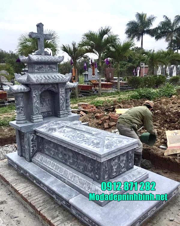 Kích thước mộ đá đơn chuẩn theo phong thủy