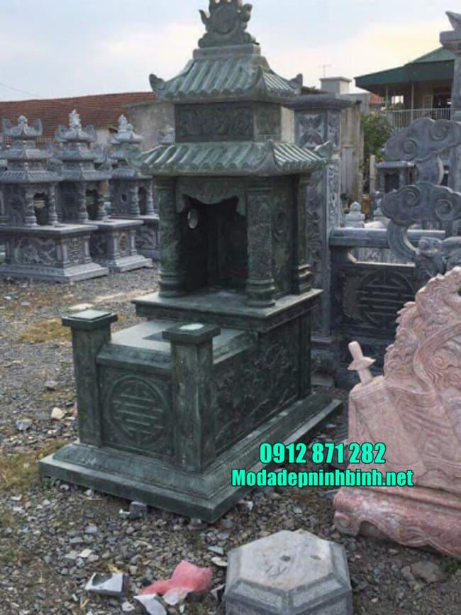 Kích thước mộ đá xanh rêu chuẩn theo phong thủy