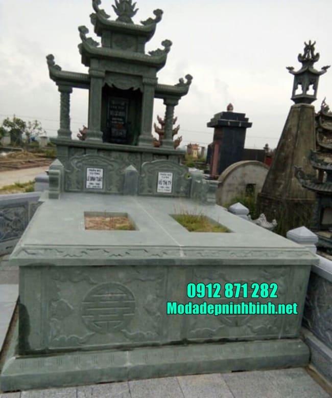 Mẫu mộ đá xanh rêu Thanh Hóa đẹp nhất