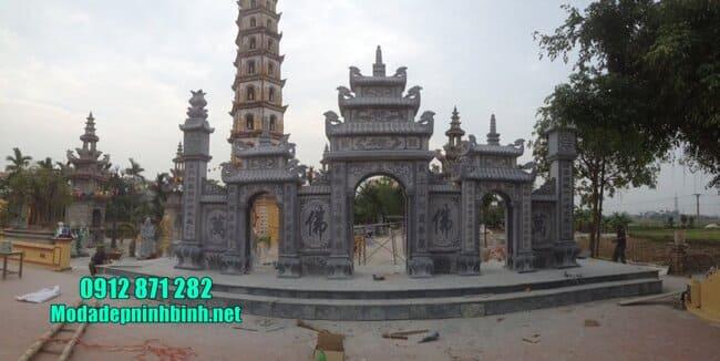 mẫu cổng chùa bằng đá tự nhiên
