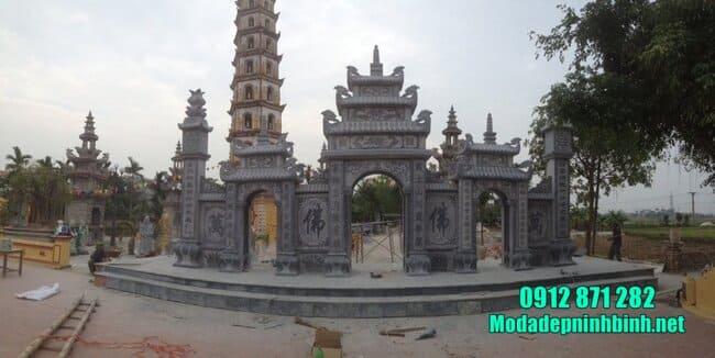 mẫu cổng chùa đẹp bằng đá tự nhiên