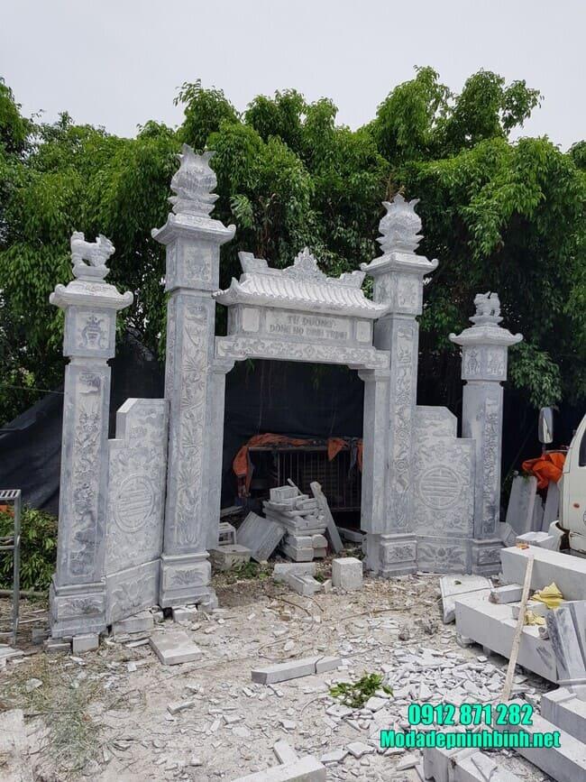 mẫu cổng nhà thờ họ bằng đá đẹp nhất
