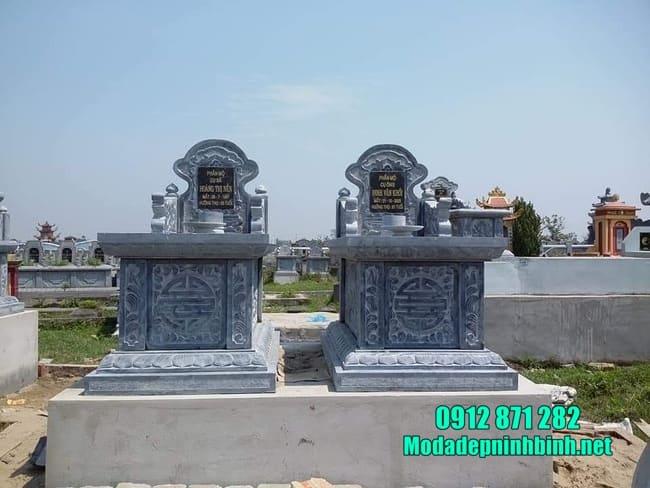 mẫu mộ đá đẹp cho 2 người