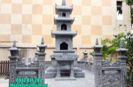 Mộ hình tháp phật giáo bằng đá tại Đồng Tháp