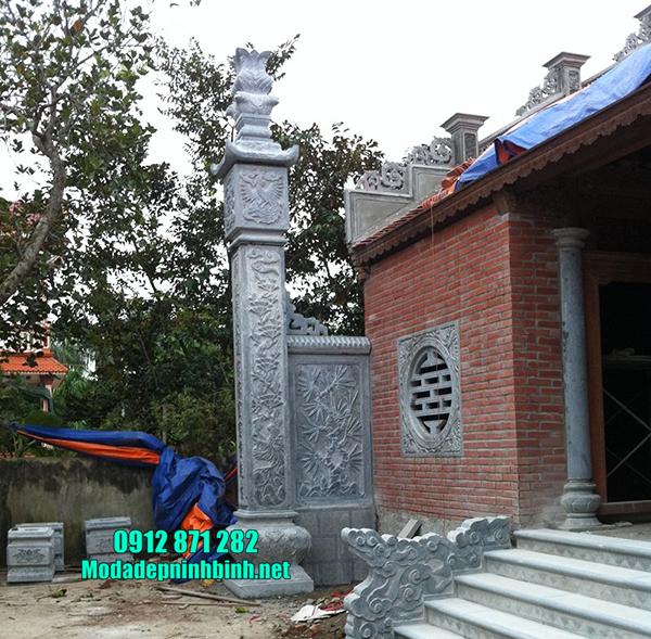 cột đồng trụ đá tại Hà Nội đẹp