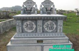 mẫu mộ đôi bằng đá đẹp tại Bắc Giang