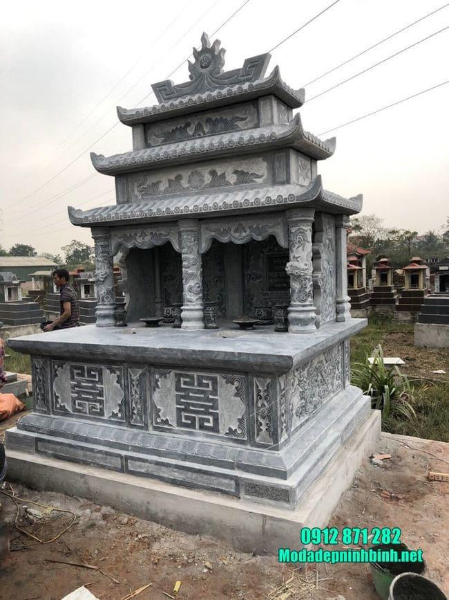 mẫu mộ đôi bằng đá tại Bắc Giang đẹp