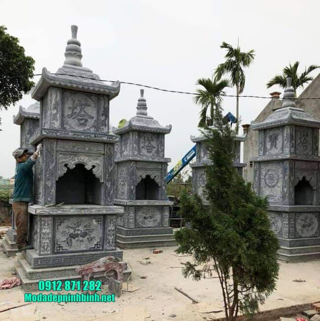 mẫu mộ tháp đá tại Đồng Tháp
