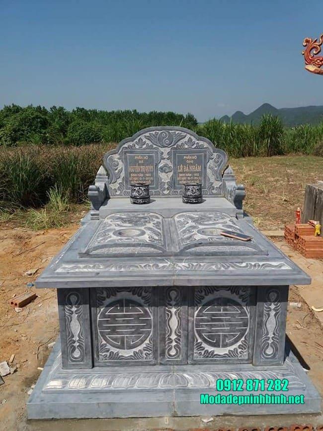 mộ đôi đá mỹ nghệ tại Bắc Giang