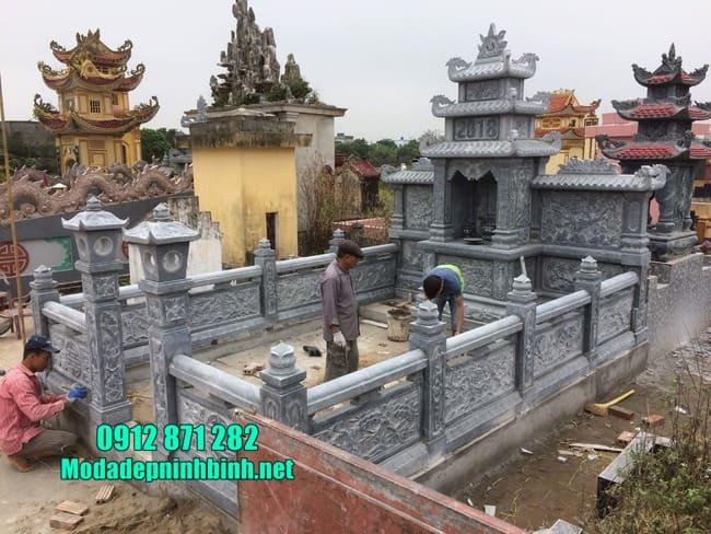 khu lăng mộ đá đẹp tại Bình Phước