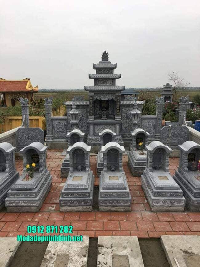 mẫu khu lăng mộ đá tại Bình Phước đẹp