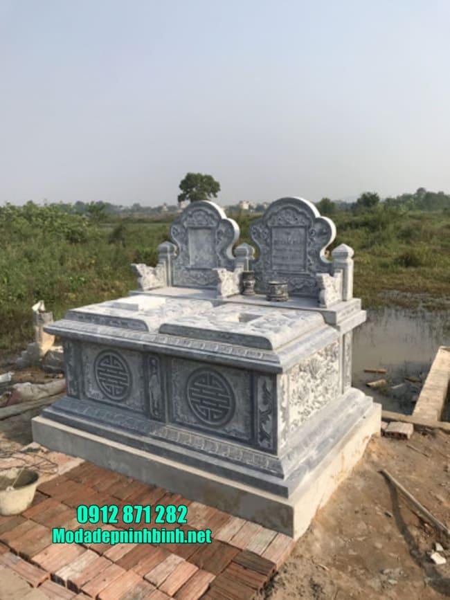 mẫu mộ đá đôi đẹp tại Bình Thuận