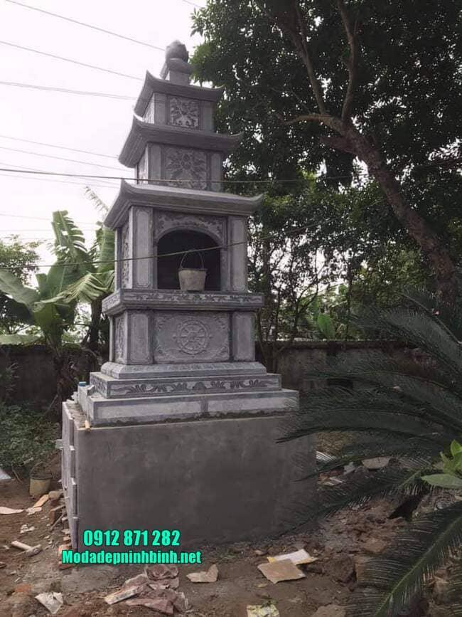 mẫu mộ đá hình tháp tại Vĩnh Long đẹp
