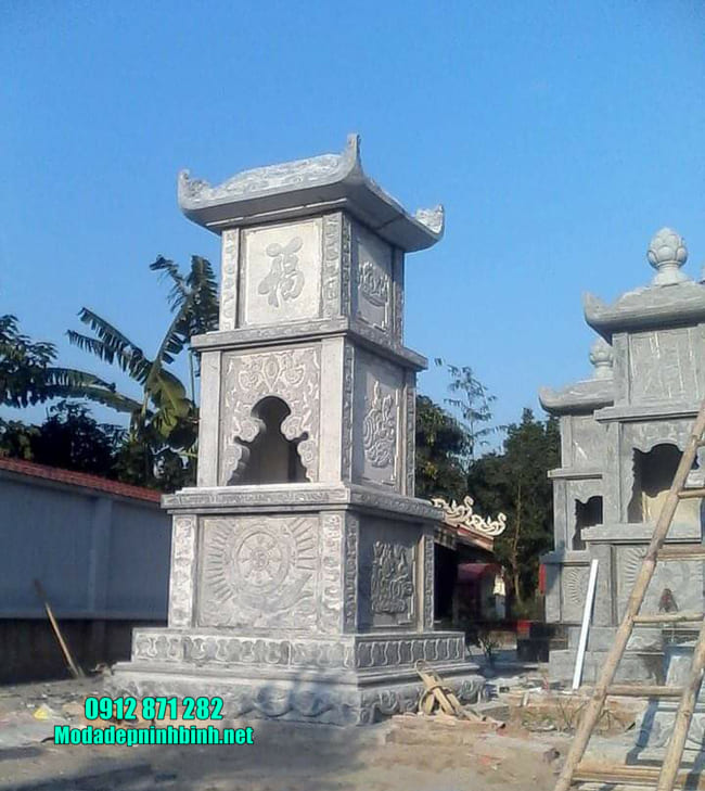 mẫu mộ tháp đá tại Vĩnh Long đẹp