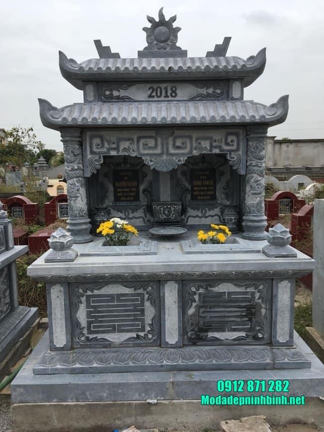 mộ đôi bằng đá mỹ nghệ tại Bình Thuận