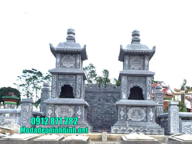 Mẫu tháp mộ đẹp bằng đá để thờ hũ tro cốt tại Bình Phước
