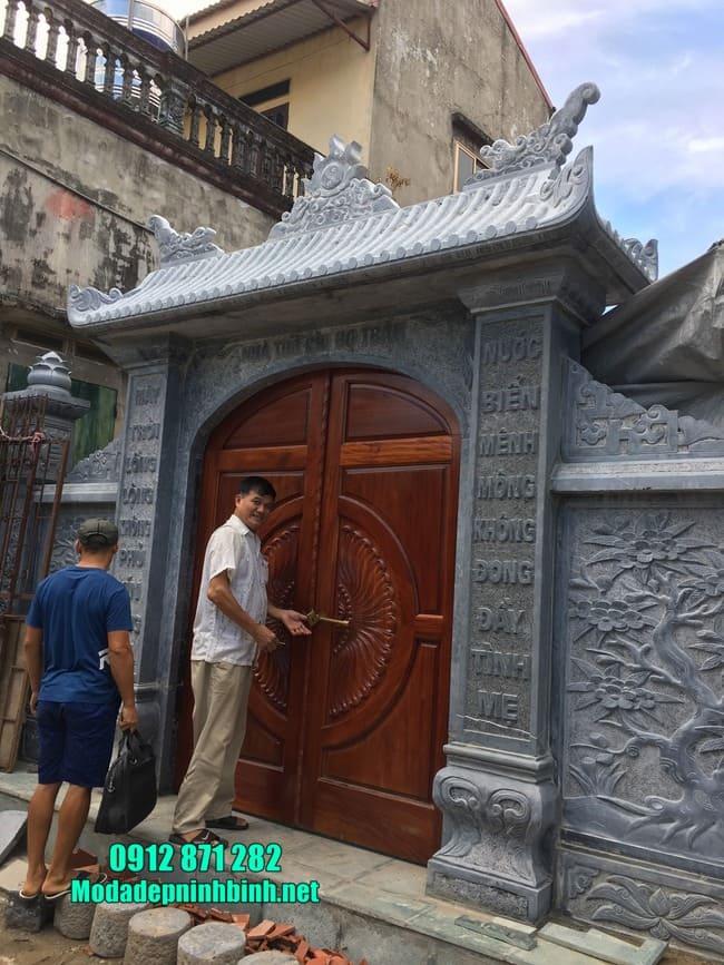 cổng đá đẹp tại Hải Phòng