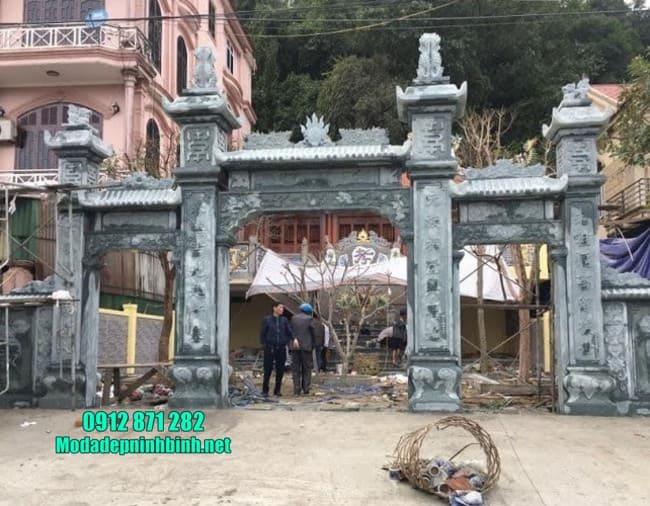 cổng tam quan bằng đá đẹp tại Thái Bình