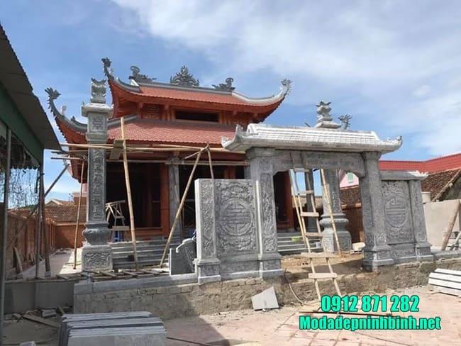 cổng tam quan bằng đá tại Hà Nam