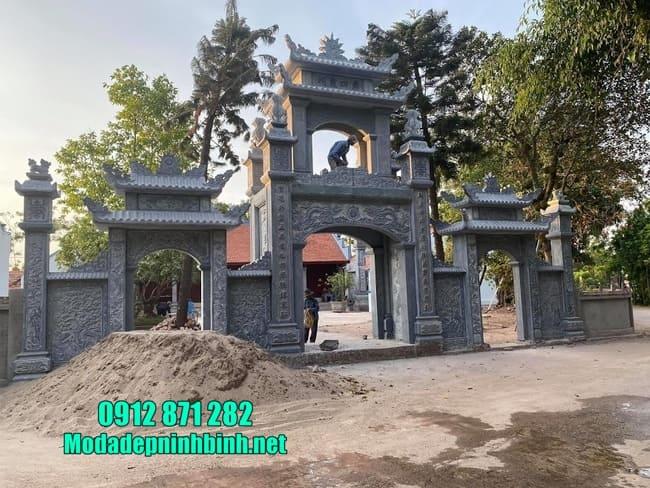 cổng tam quan bằng đá tại Hải Phòng đẹp nhất