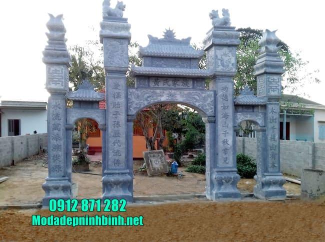 cổng tam quan bằng đá tại Hải Phòng đẹp