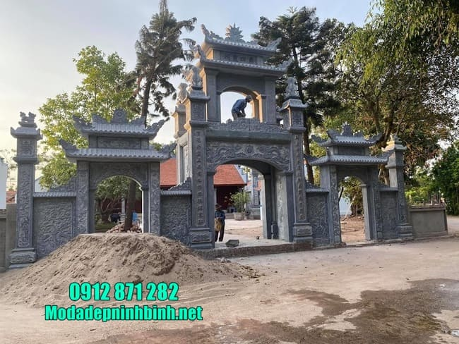 cổng tam quan bằng đá tại Hưng Yên đẹp nhất