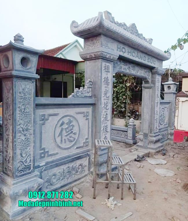 cổng tam quan bằng đá tại Hưng Yên đẹp