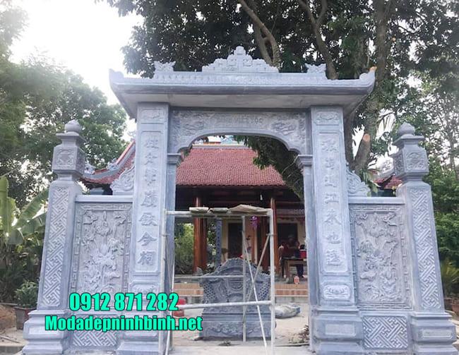 cổng tam quan bằng đá tại Hưng Yên