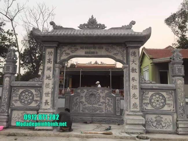 cổng tam quan bằng đá tại Vĩnh Phúc