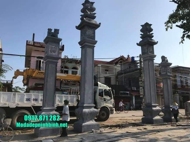 cổng tam quan đá đẹp nhất tại Thái Bình