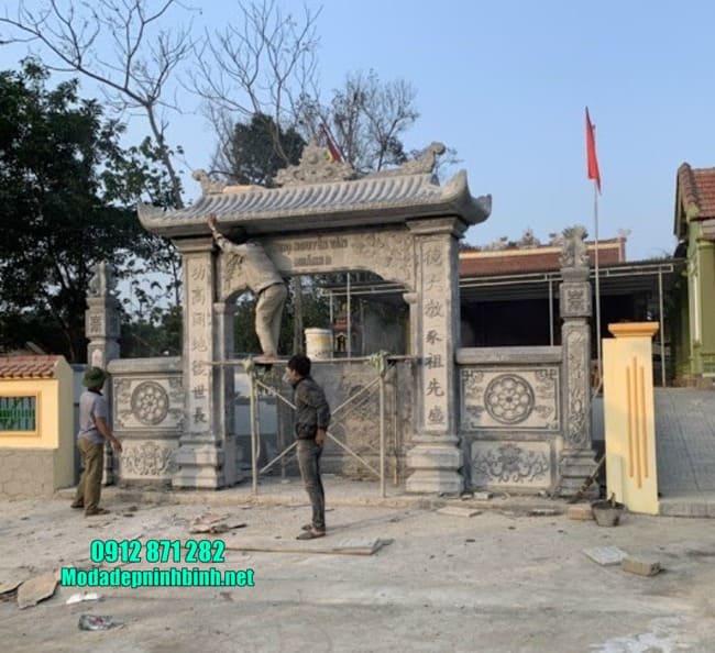 cổng tam quan đá đẹp tại Hà Nam