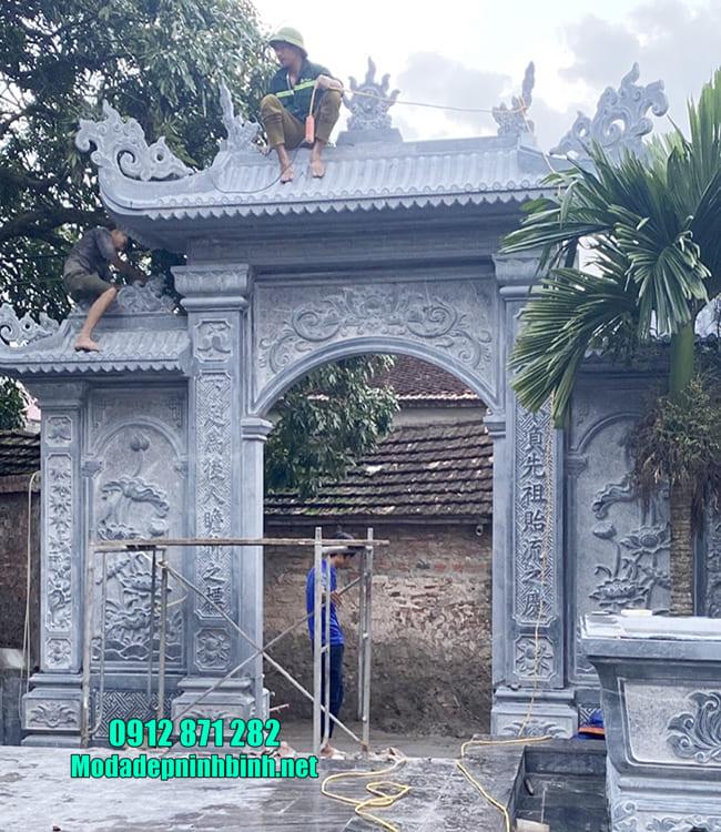cổng tam quan đá đẹp tại Hưng Yên