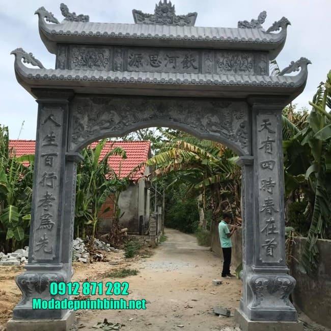 cổng tam quan đẹp tại Hưng Yên