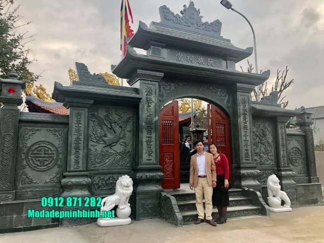 cổng tam quan đẹp tại Thái Bình
