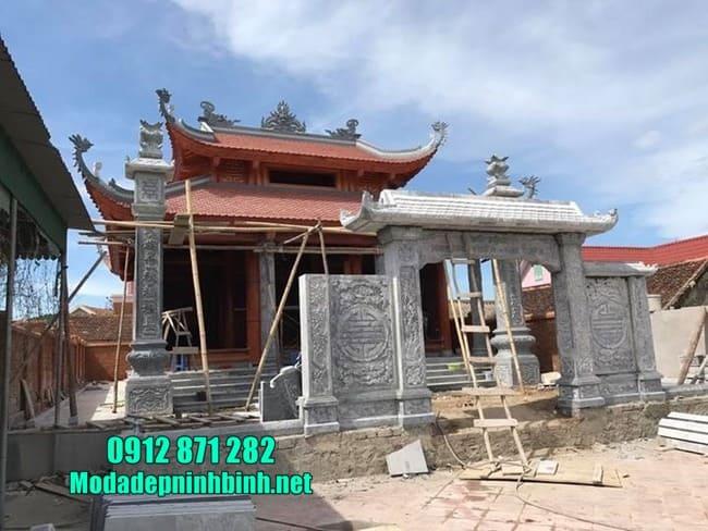 mẫu cổng đá đẹp tại Hưng Yên