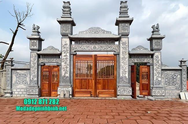mẫu cổng đá đẹp tại Thái Bình