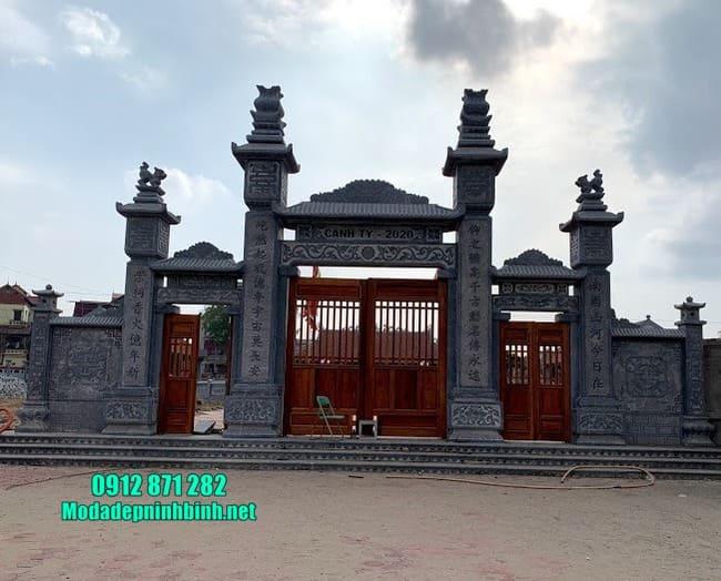mẫu cổng đá nhà thờ họ đẹp nhất tại Hải Dương