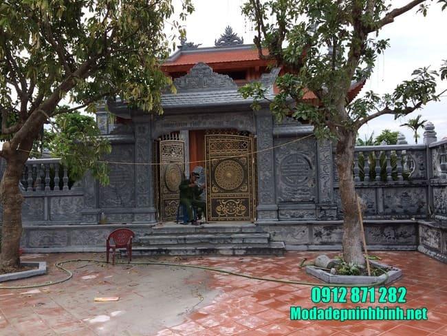 mẫu cổng đá nhà thờ họ đẹp tại Hải Dương