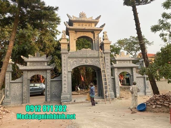 mẫu cổng tam quan bằng đá đẹp nhất tại Hưng Yên