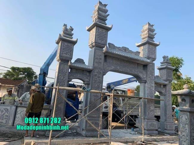 mẫu cổng tam quan bằng đá tại Hà Nam đẹp
