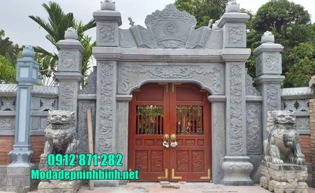 mẫu cổng tam quan bằng đá tại Hải Phòng đẹp nhất