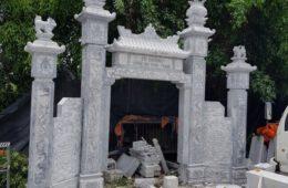 mẫu cổng tam quan bằng đá tại Hưng Yên