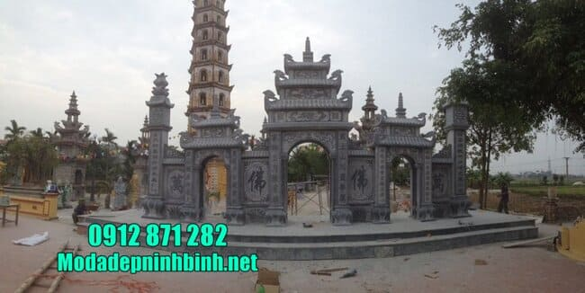 mẫu cổng tam quan bằng đá tại Hưng Yên đẹp
