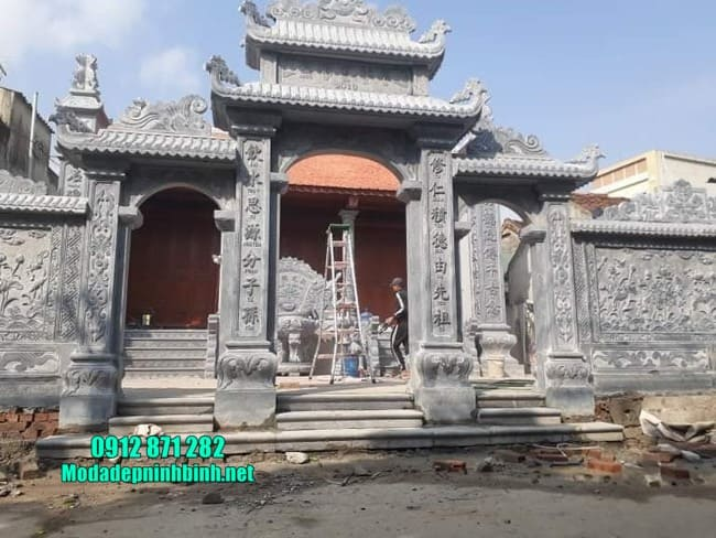 mẫu cổng tam quan bằng đá tại Thái Bình