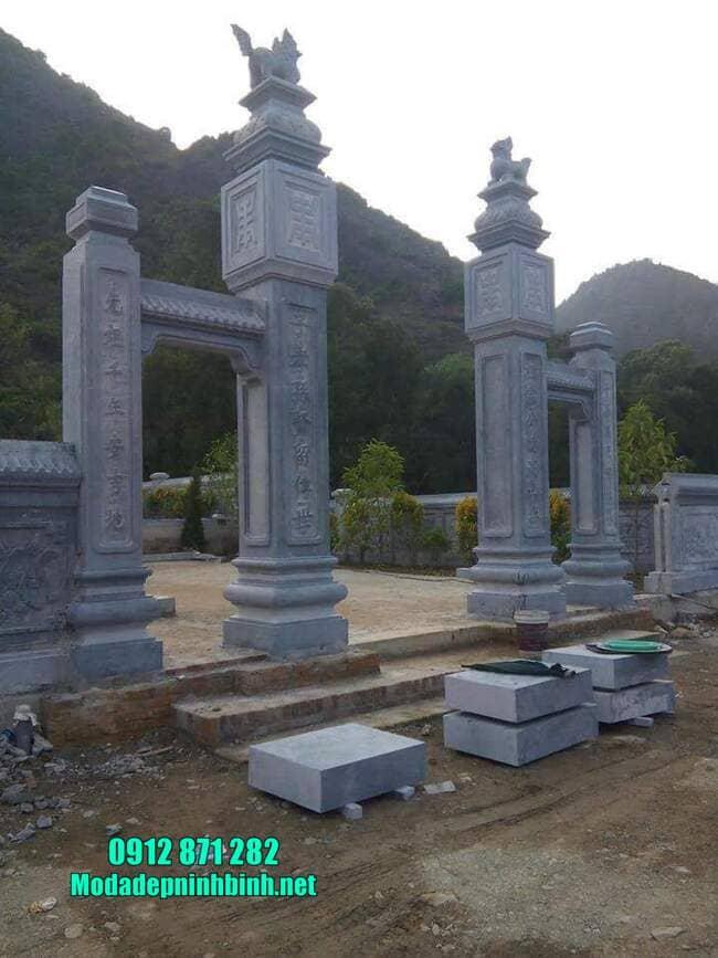 mẫu cổng tam quan đá đẹp nhất tại Hưng Yên