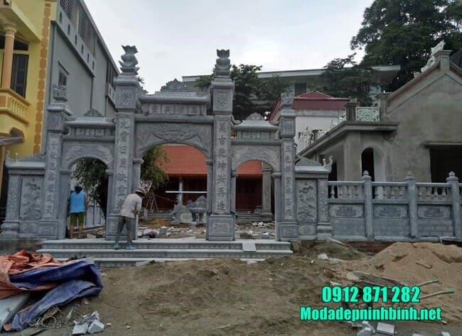 mẫu cổng tam quan đá tại Hà Nam
