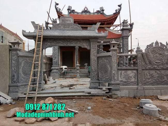 mẫu cổng tam quan đá tại Hưng Yên đẹp nhất