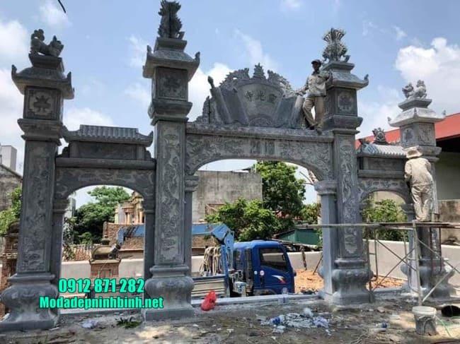 mẫu cổng tam quan đá tại Thái Bình